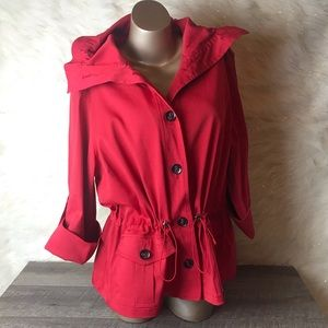 Ruby Rd.   Women's Red Trench Coat (18W)